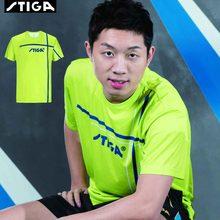 2018 Nowy przyjazd Stiga tenis stołowy ubrania Sportswear szybkie suche Krótki rękaw mężczyzn ping pong shirt Badminton Sport koszulki tanie tanio Pasuje do rozmiaru Weź swój normalny rozmiar Jako