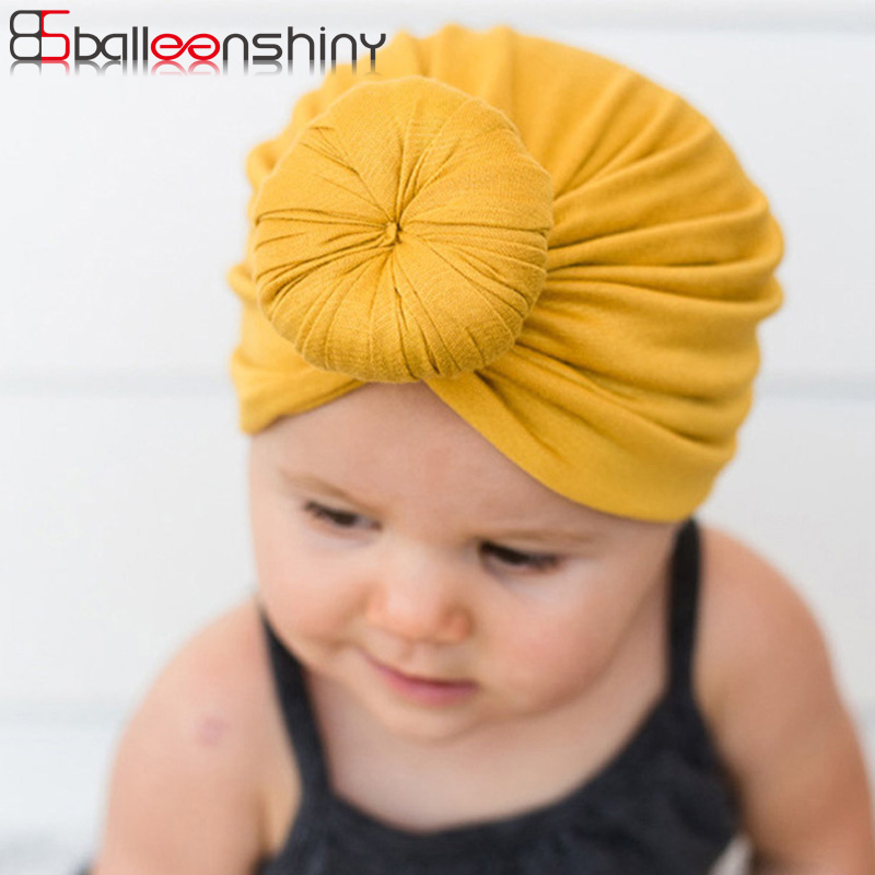 Boys' Baby Clothing Baby Girl Sequins Design Bowknot Elastic Hats Turban Cap Cute Soft Infant Hair Accessories Indian Style Accessories