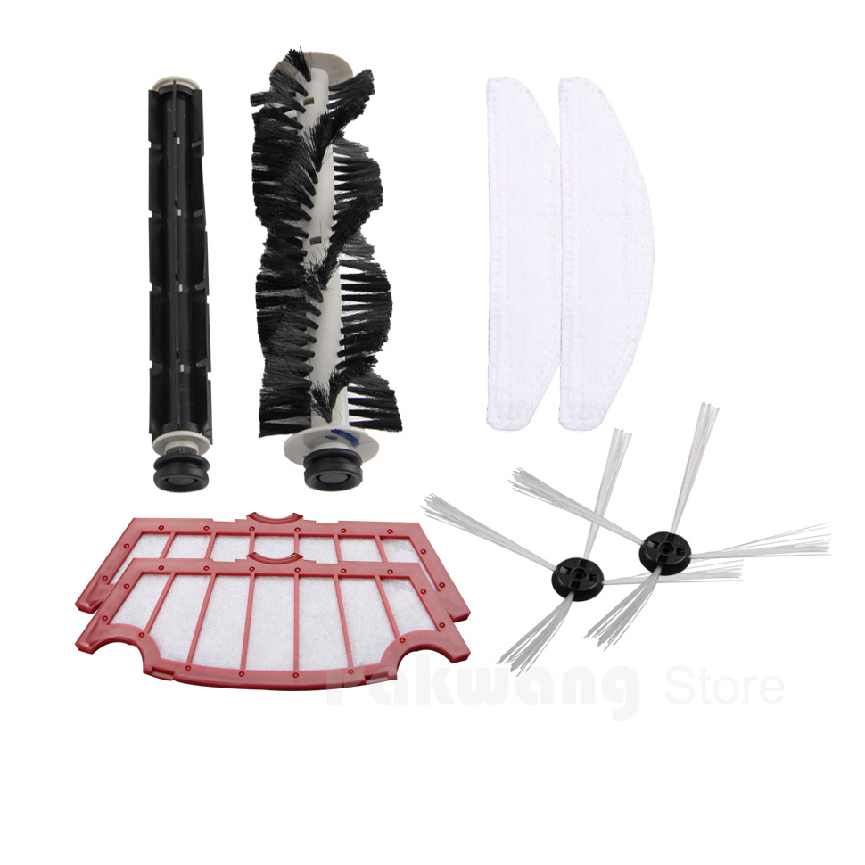 Original A320 Robot Vacuum Cleaner Parts, A320 Mop, Filter,Side Brush, Rubber Brush and Hair Brush Supply from factory
