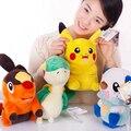 4 unids/lote 30 cm Pokemon Tepig pikachu Snivy Oshawott felpa muñeca de juguete de colección de juguetes de la muñeca para el Regalo de Cumpleaños