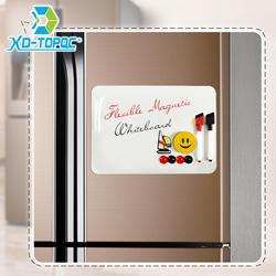 """Новый A4 сухая белая доска 9 """"x 12"""" гибкий магнитный холодильник детский холодильник Рисунок белый доска объявлений напоминание магнит"""