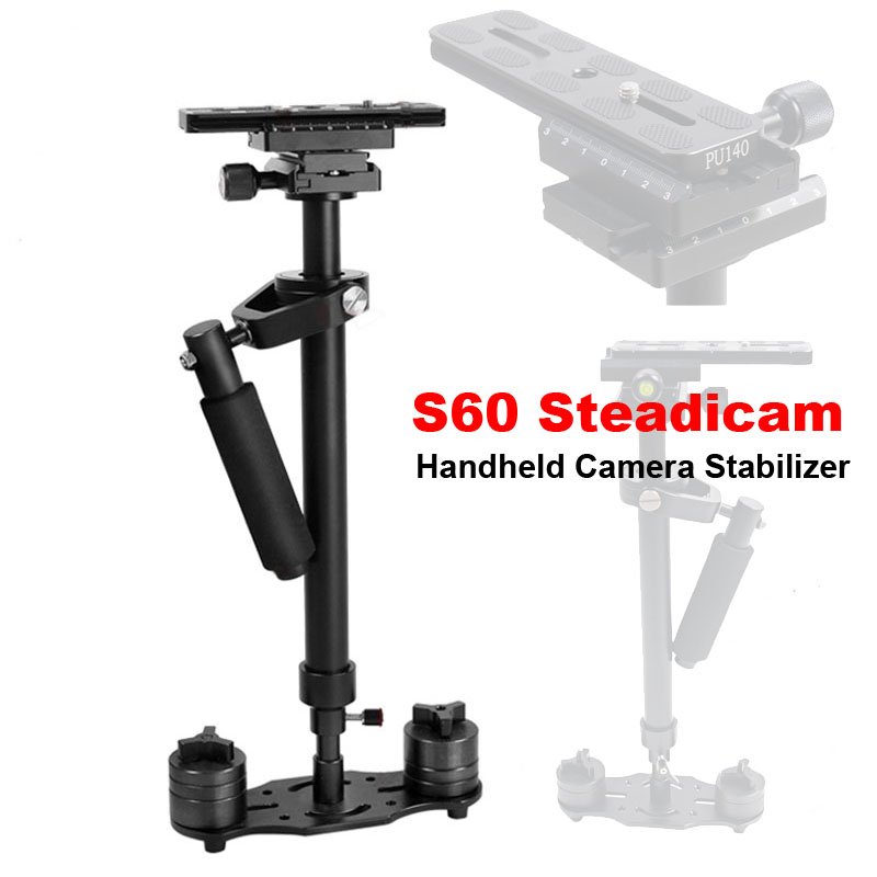 Professional S60 60cm Video Stabilizer Handheld DSLR Camera Steadicam Steady for Camera Video DV DSLR Nikon Canon Sony Panasonic portable 2 axis handheld stabilizer video gimbal steadicam steady for dslr camera dv bmpcc
