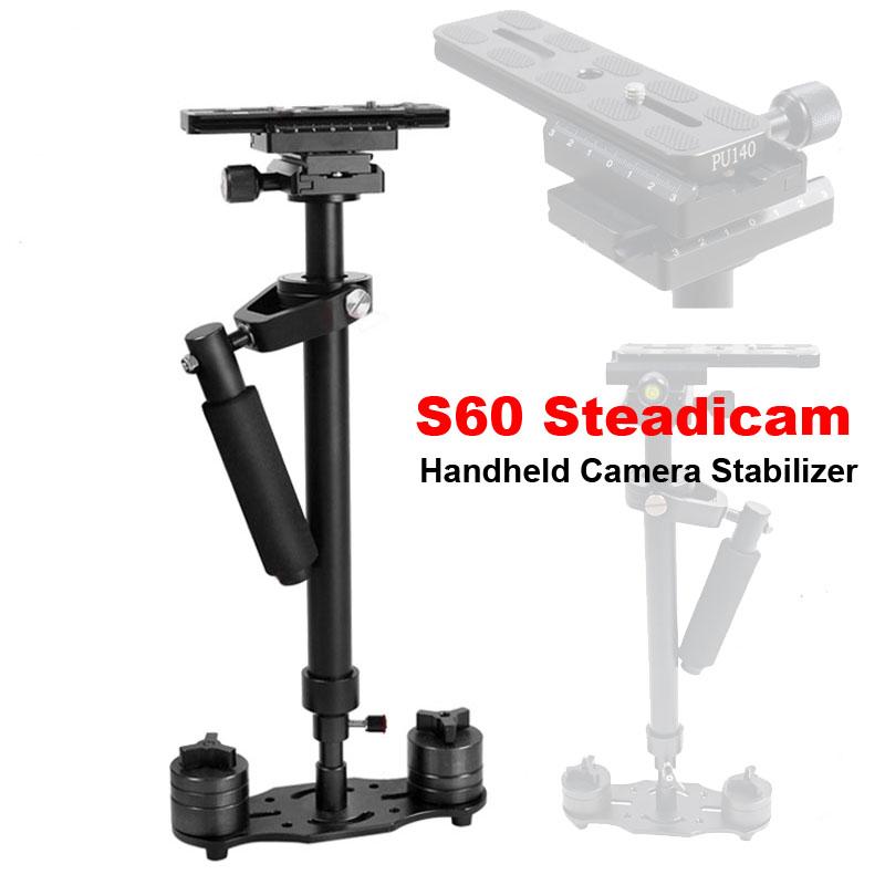 Prix pour Professionnel S60 60 cm Vidéo Stabilisateur De Poche DSLR Caméra Steadicam Stable pour Caméra Vidéo DV DSLR Nikon Canon Sony Panasonic