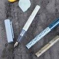 Nova KACO X V & A Museus Série Conjunta CÉU Conversor Extra Fine Nib Fountain Pen Schmidt 0.38 milímetros caneta de Tinta caixa de Presente caneta Escritório Coleção