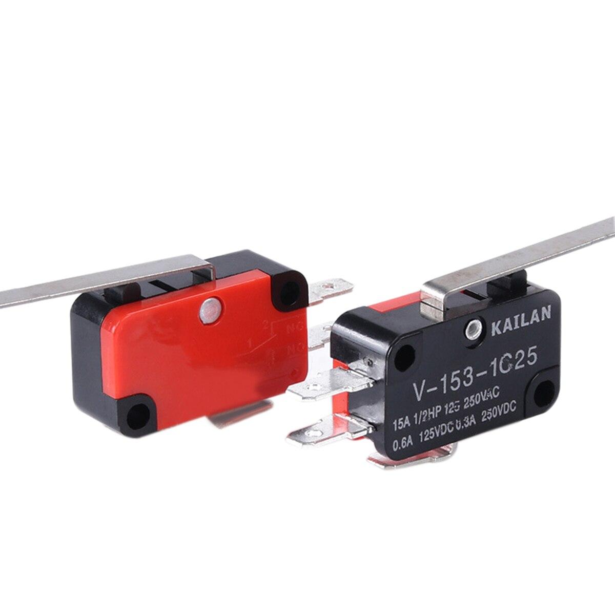 2X 10 Pcs AC 125V 1A SPDT 1NO 1NC Momentary Long Hinge Lever Micro Switch S8U 2C