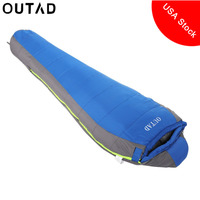Portable Outdoor Winter Mummy Type Thermal Warm Adult Lightweight Cotton Sleeping Bag For Camping Adventure Family