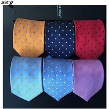 mens fashion tie dot casual tie polyester silk neckties dress business men ties vintage bow handkerchief B045