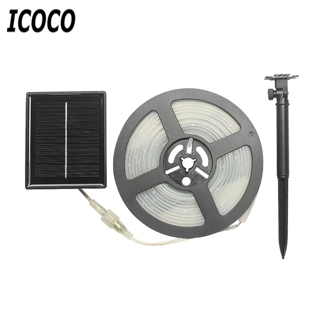 Icoco 5m 100 Leds Solar Ed Waterproof Strip Light Ip65 For Christmas Festival Party Garden Bar Lawn Plug Lamp Outdoor Decor