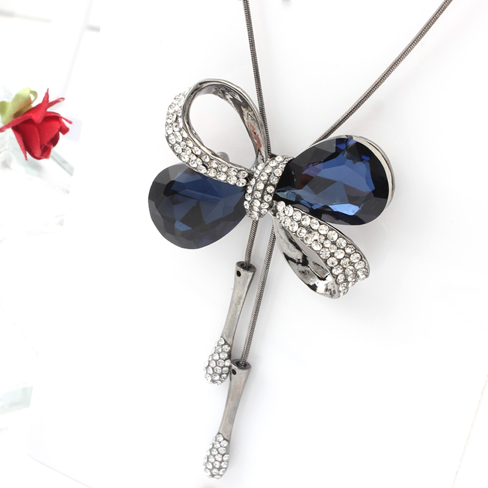 SHE WEIER Long Necklaces & Pendants Women Sweather Chain Pendant Butterfly Necklace For Women Collier Sautoir Bijoux 2018