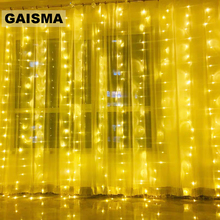 6X3/8x3M LED Curtain Decorative Lights Garland Christmas Decoration For Party New Year Wedding Fairy Lights Holiday Lighting