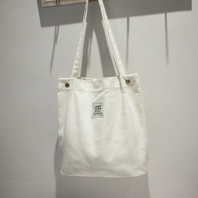 BARHEE Brand Large Pocket Casual Tote Women's Handbag 2018 Canvas Shopping Bag School Forest Shoulder Bag Large Capacity White