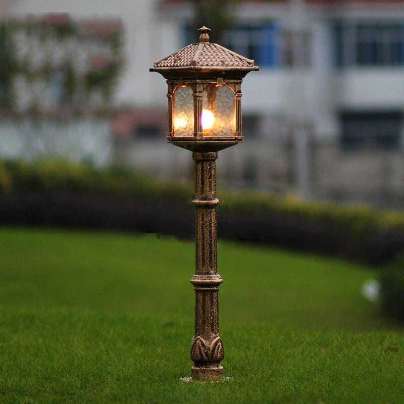 Fashion Europe Lawn Lamp Outdoor Garden Light Luxury Antique Lamps Backyard  Decoration Lighting WCS OLL008