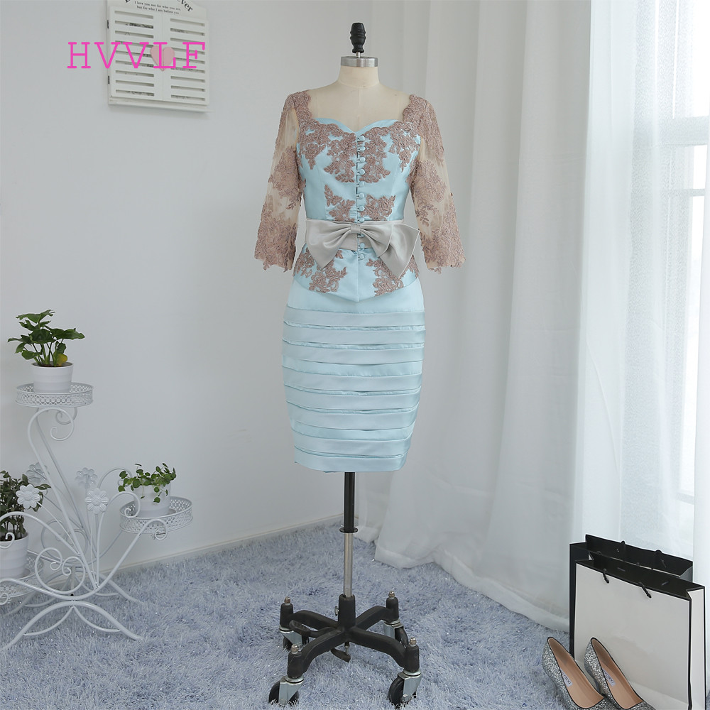 Plus Size Turquoise 2019 Mother Of The Bride Dresses Sheath With Jacket Satin Lace Wedding Party Dress Mother Dress For Wedding