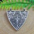 5 unids graceangie imitación creativa triángulo patrón en forma de colgante de los encantos accesorios de la joyería de plata antigua decoración 40*37*2mm