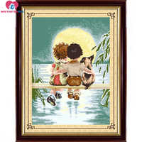 Accurate printing beads embroidery kids children moon dog love full beadwork home decor crafts needlework craft decoration