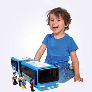 Image 5 - RC Car 6 Channel 2.4G Remote Control Bus City Express High Speed One Key Start Function Bus with Realistic sound and Light