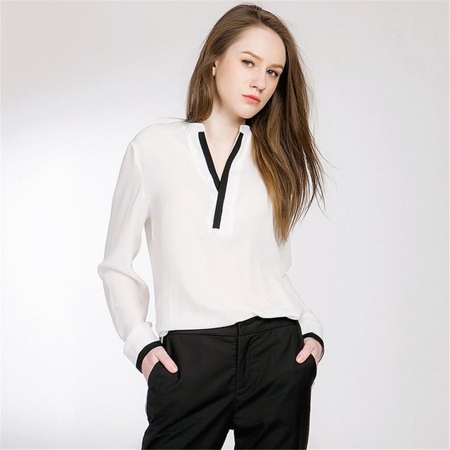 a7e7e0cd6 Topgirls Women Work Shirt Summer Ladies Long-Sleeve White Blouse Women  Chiffon Offices Shirts Casual Tops Camisa Female Blusa