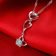 0.35CT Handmade 18K Gold Natural Diamond Pendant Necklace for Women Wedding Engagement Party – Free DHL Shipping