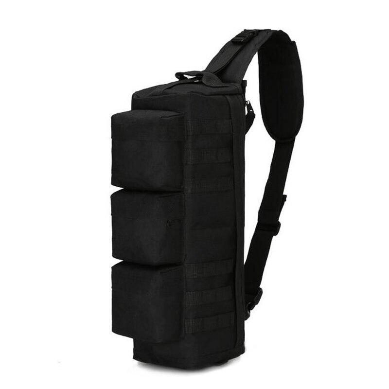 Sac à bandoulière de pêche en plein air tactique Camouflage militaire sac à dos à une épaule sac de Sport 6 couleurs - 2