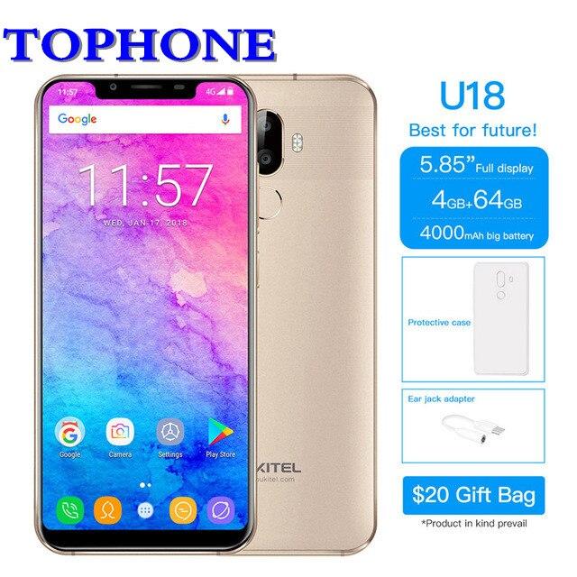 Oukitel 21:9 5,85 мобильный телефон FHD Android 7,0 mt6750t восемь ядер 4G B Оперативная память 6 4G B Встроенная память 16MP 4000 мАч 4G LTE Face ID смартфон