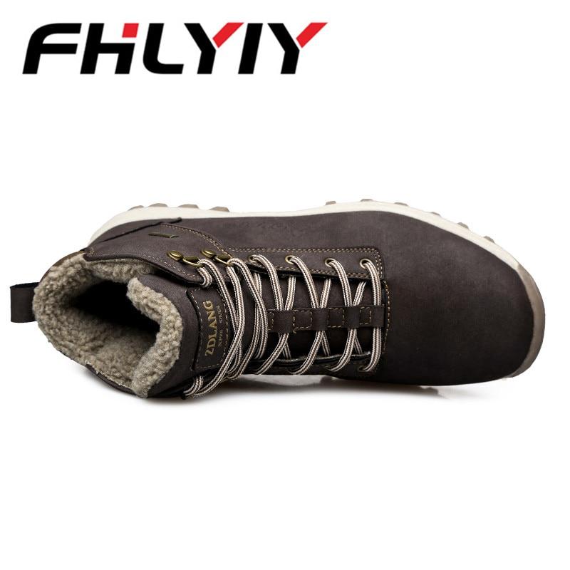 À Air black Grande Homme Chaussures Hommes Hiver Dark Cuir Lacets Automne Taille Plein De Casual Imperméables Botas Montagne En Sneakers Mode Brown w1P66qfn