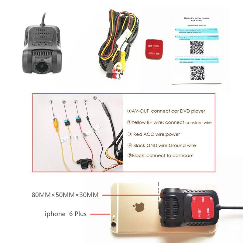 Câmera do traço completa hd 1080 p wifi mini carro dvr novate 96655 sony imx322 visão noturna estacionamento monitor g sensor gravador de vídeo dashcam - 6