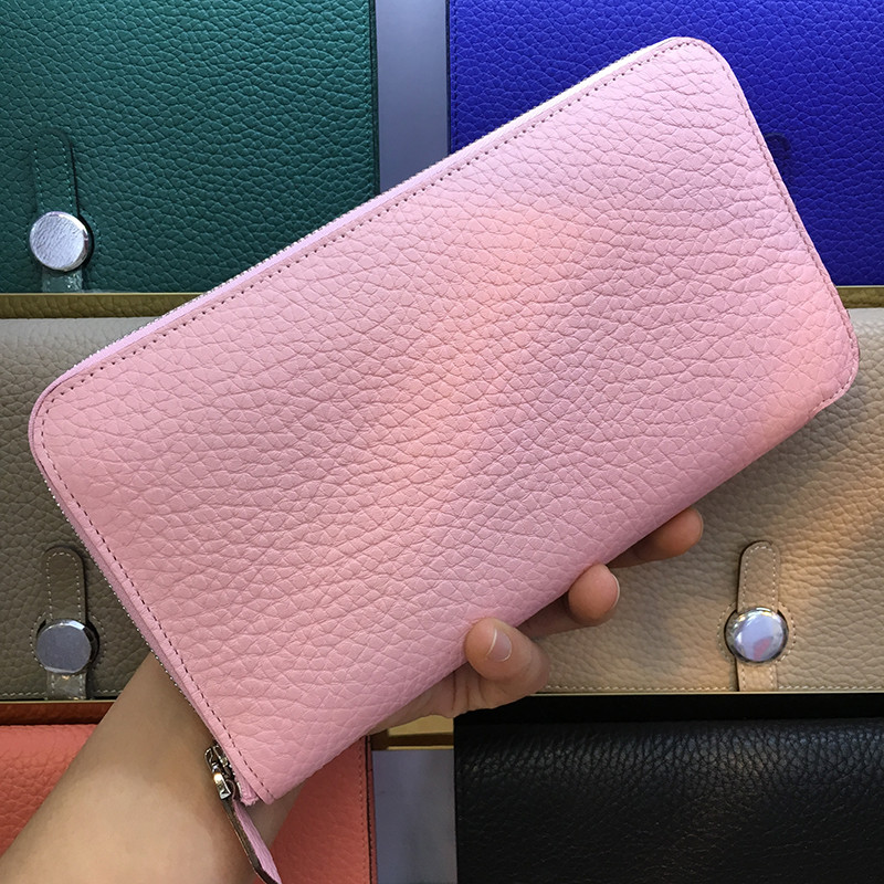 Genuine Leather Long Wallet Women Famous Brand Ladies Clutch Wallet Fashion Female Coin Purse Girls Wallet Carteira Feminina famous brand 2017 genuine leather women wallet long purse vintage solid cowhide multiple cards holder clutch carteira feminina