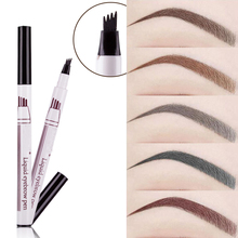 1Pcsผู้หญิงแต่งหน้าSketch Liquid Eyebrowดินสอสีน้ำตาลกันน้ำEye Brow Tattoo Dye Tint Pen Linerยาวนาน