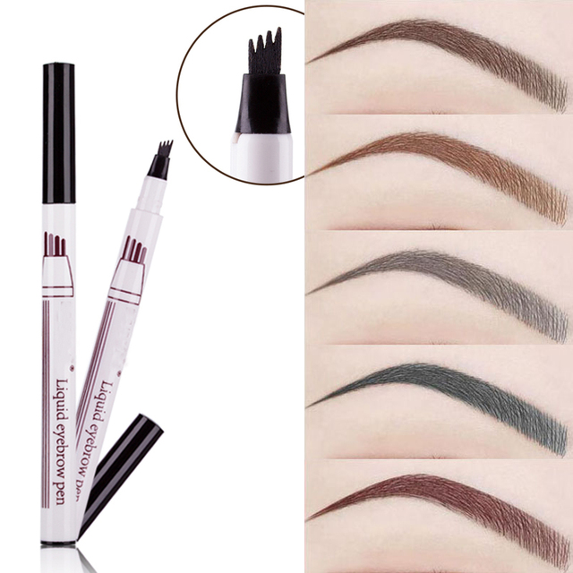 1Pcs Women Makeup Sketch Liquid Eyebrow Pencil  Waterproof Brown Eye Brow Tattoo Dye Tint Pen Liner Long Lasting Eyebrow