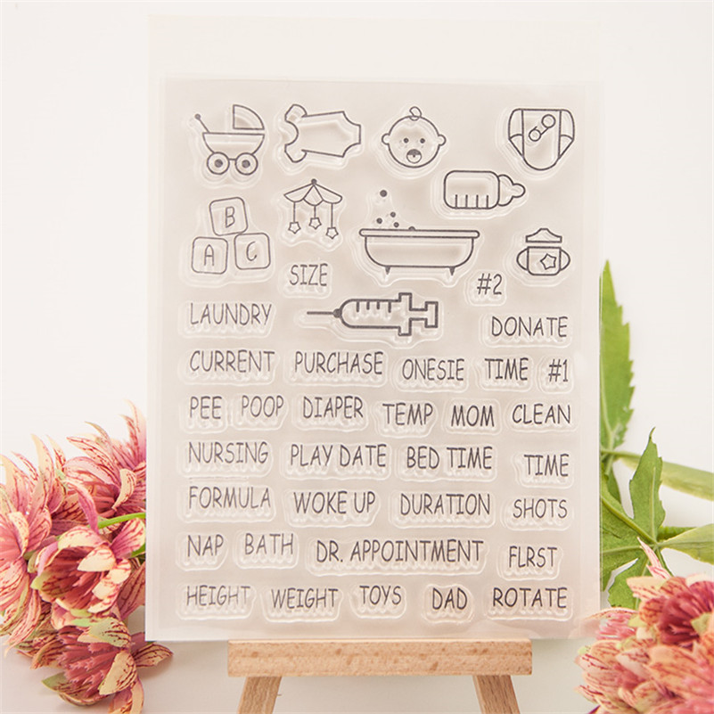 baby plan in future Clear Silicone Rubber Stamp for DIY scrapbooking photo album Decorative craft for wedding gift RM-214 predicting trends in future foreign exchange market prices