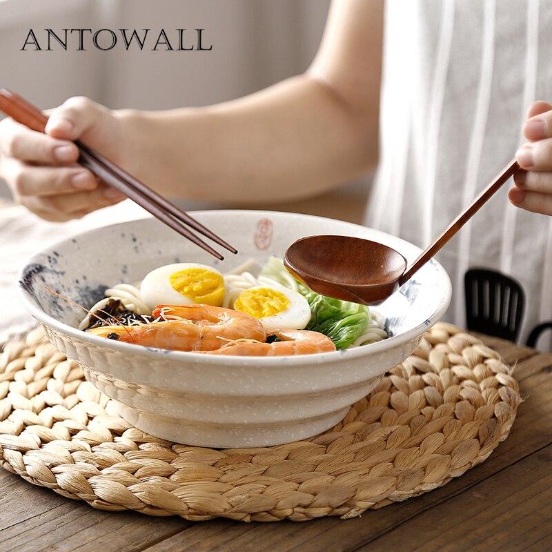 ANTOWALL Vintage en céramique style chinois nouilles bol salade soupe plat bol maison restaurant ramen bol