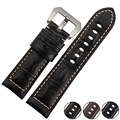 Special Pattern High Qulaity Colorful Genuine Cowhide Leather Watchband Watch Straps 24mm