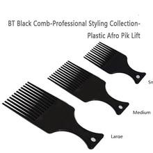 Для использования в салонах, 3 размера, черный, афроамериканский гребень, гребень для волос, афро гребень для парикмахерских, инструменты для укладки волос, инструмент для самостоятельной сборки, LZN0037