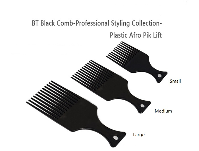 Salon Use 3 Size Black African American Pick Comb Hair Combs Afro Hair Comb For Hairdressing Styling Tools DIY Hair Tool LZN0037