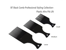Salon Use 3 Size Black African American Pick Comb Hair Combs Afro Hair Comb For Hairdressing Styling Tools DIY Hair Tool LZN0037 10in1 110v 220v power multifunctional hair curlers styling tools hair sticks kinkiness hair dryer machine comb hairdressing tool