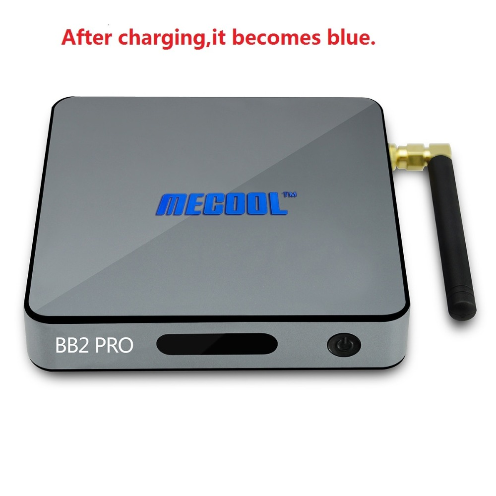 Original MECOOL BB2 Pro Android TV Box Amlogic S912 64 bit Octa core ARM Cortex-A53 3GB 16GB 4K WiFi Dual Band Set-top Boxes