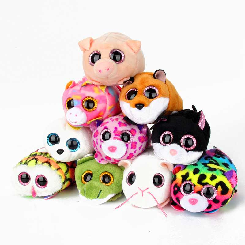 10CM Mini Original Ty Plush Toys Beanie Boos Big Eyes fox unicorn Pocket TSUM Candy pig Stuffed Doll Pink Owl TY Baby Kids Gift цена