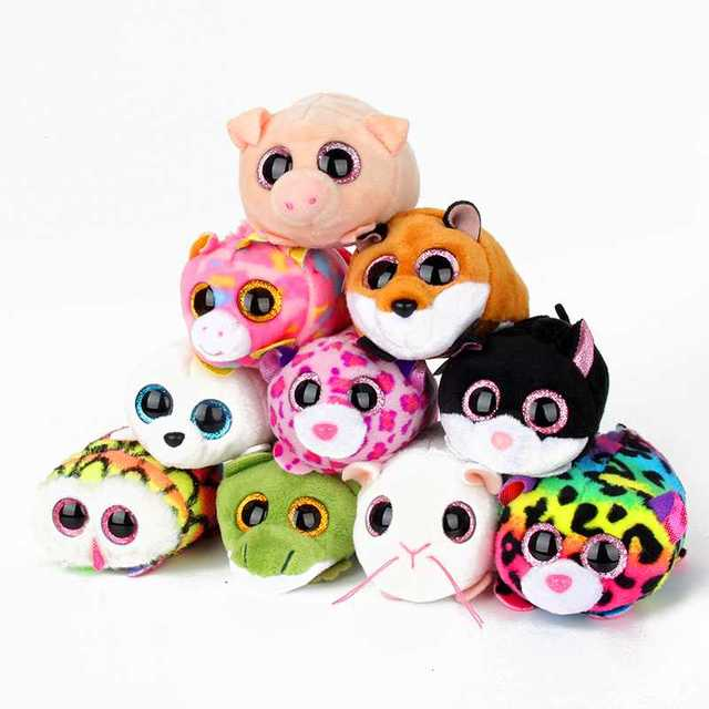 bc58b95a56d 10CM Mini Original Ty Plush Toys Beanie Boos Big Eyes fox unicorn Pocket  TSUM Candy pig Stuffed Doll Pink Owl TY Baby Kids Gift