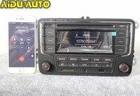 AIDUAUTO UŻYWANE RCN210 Bluetooth Odtwarzacz MP3 USB CD MP3 Radio DLA VW Golf 5 6 Jetta Mk5 MK6 CC Passat B6 B7