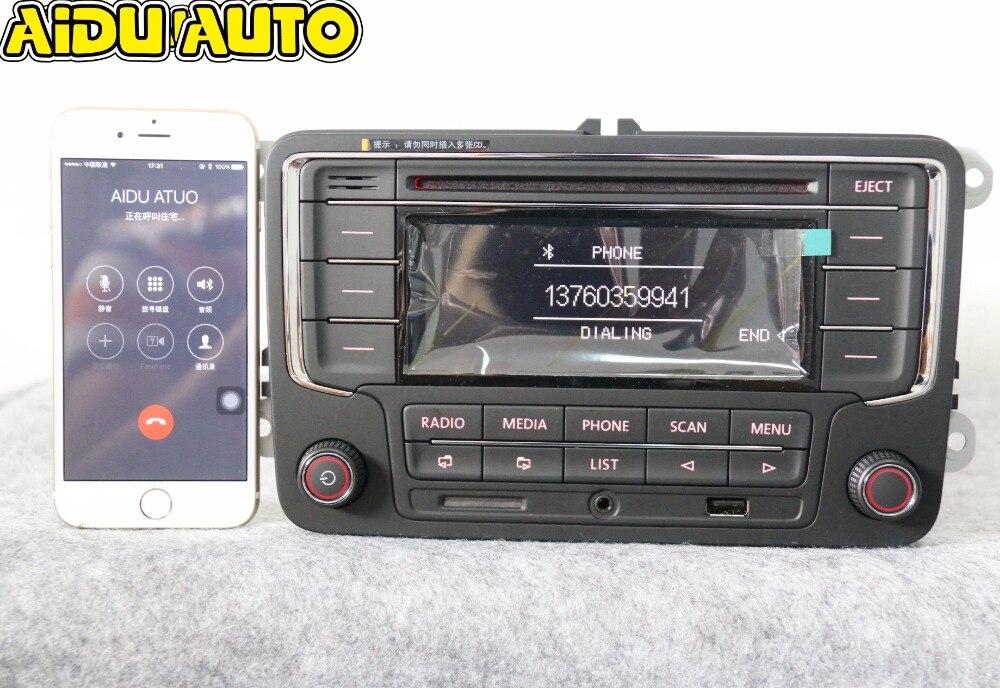 AIDUAUTO utilisé RCN210 Bluetooth lecteur MP3 USB CD MP3 Radio pour VW Golf 5 6 Jetta Mk5 MK6 Passat B6 CC B7
