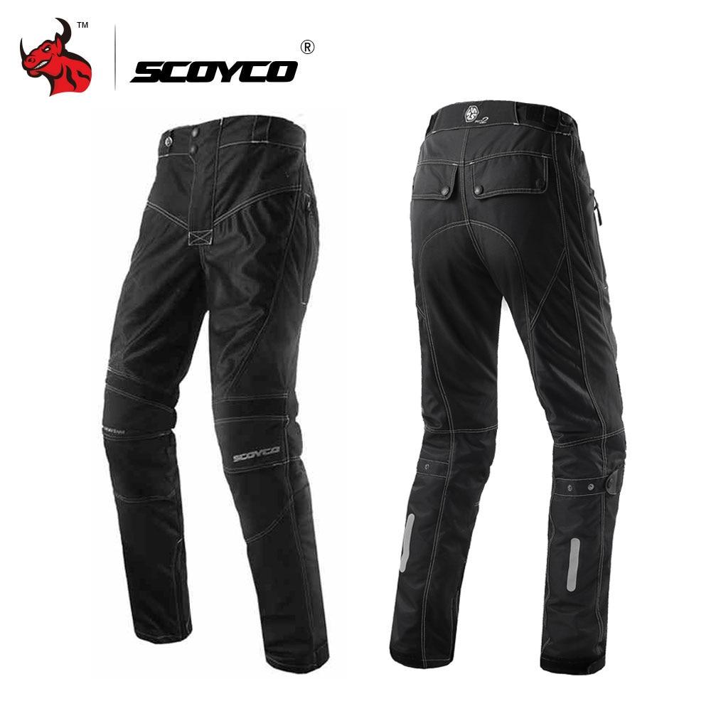 SCOYCO Moto Pants Motorcycle Trousers Men's Breathable Motocross Pants Motorbike Pants Protective Trousers Pantalon Moto Black