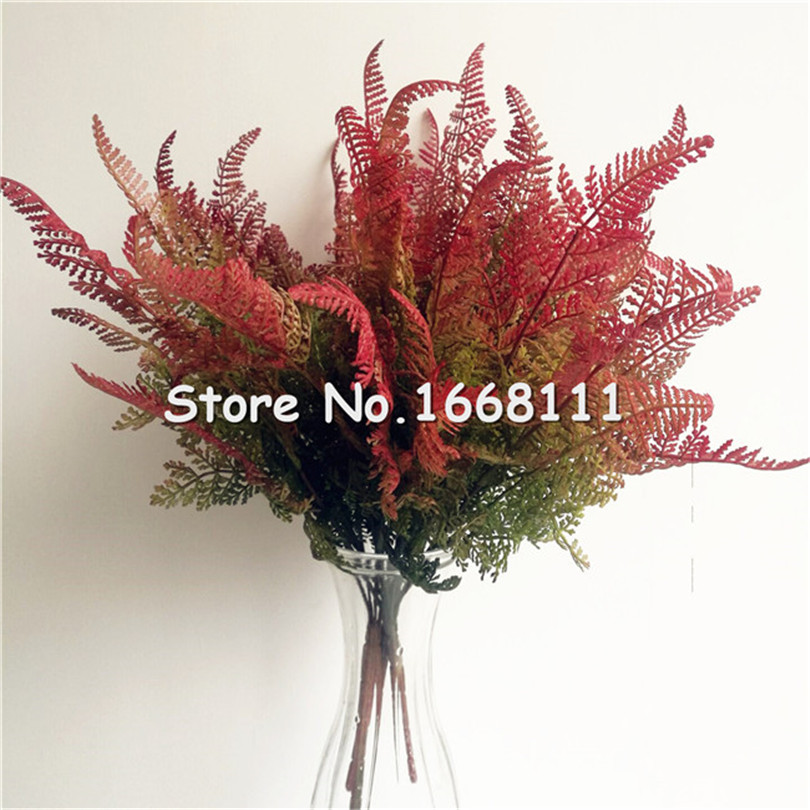 5pcs Natural Looking Leaf Artificial Flexible Glue Greenery Plant for Wedding Party Home Decorative Greenery Floral Arrangent