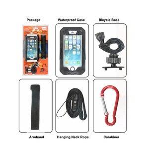 Image 5 - Vmonv אוניברסלי עמיד למים אופנוע אופניים כידון טלפון מחזיק עבור iPhone X 8 7 רכיבה על אופני טלפון נייד מקרה GPS פגז