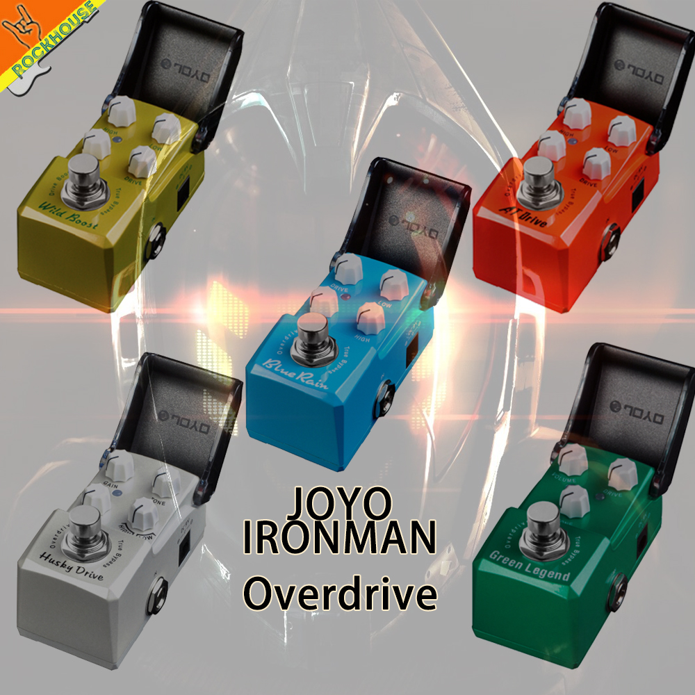 JOYO IRONMAN Overdrive Guitar Effects Pedal Tube Overdrive high gain overdrive Booster Blues overload True Bypass Free Shipping wacken metal overdrive