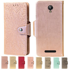 Embossing Stand Flip PU Leather wallet Case Cover For Fly IQ4514 Quad EVO Tech 4 Phone Cases(China)