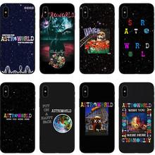 Travis Scott Phone Cases Astroworld Sicko Mode For Apple iPhone X 8 8Plus 7 7Plus 6 6S Plus 5 5S SE Soft Silicone Black Cover