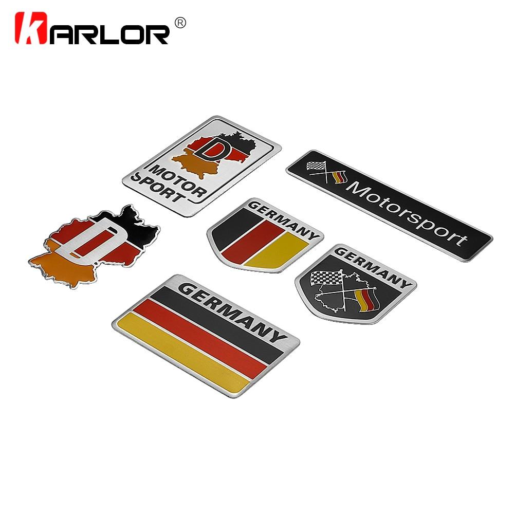 Germany German Flag 3D Car Stickers Aluminium Emblem Badge Decal Sticker Racing Motorsports for VW Benz BMW Audi Motor Sticker|3d car sticker|stickers racingemblem badge - AliExpress