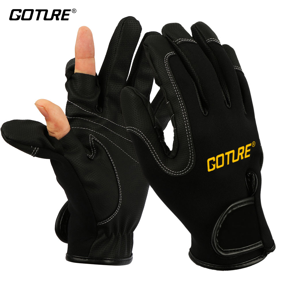 Gloves With Fingertips Out: Goture Men Fishing Gloves Full Half Finger Outdoor Winter