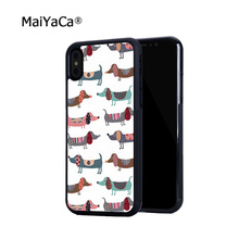 цена на crazy dachsh fashion hot sell soft edge hard back mobile phone cases for iphone 4s 5 5c 5s 5se 6s 6plus 7 7plus case cover