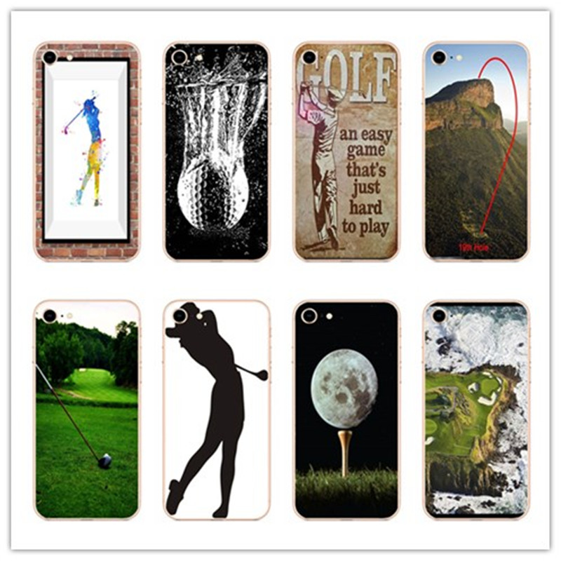 KULIAI Hard Phone Cover For iPhone 7 Case A golf ball Protective Shell For iPhone 6 6S 8 Plus X 5 5S SE 4 S